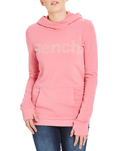 Bench Corp Print Hoodie-PINK-X-Large