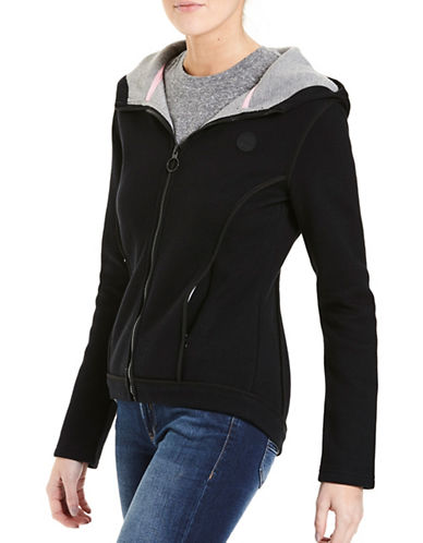 Bench Quilted Cotton Bind Jacket-BLACK-X-Small