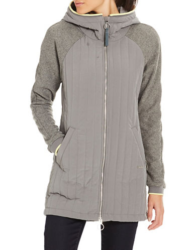 Bench Mix Media Slim-Fit Jacket-GREY-Large