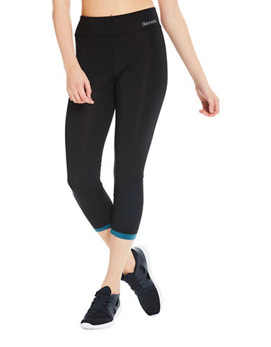 Bench Layered Active Capri Leggings-BLACK-X-Large 89342207_BLACK_X-Large