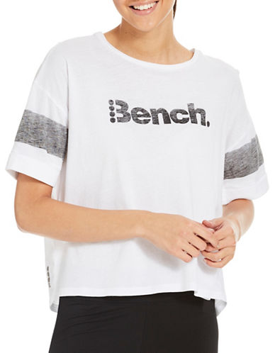 Bench Performance Cropped Tee-WHITE-Large