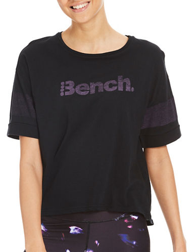 Bench Performance Cropped Tee-BLACK-X-Small