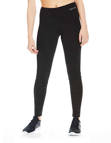 Bench Wet Look Mix Leggings-BLACK-X-Large
