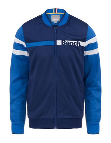 Bench Zippered Track Jacket-BLUE-Medium 89196054_BLUE_Medium