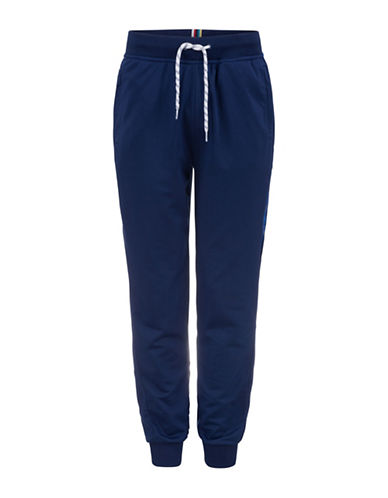 Bench Drawstring Track Pants-BLUE-XX-Large