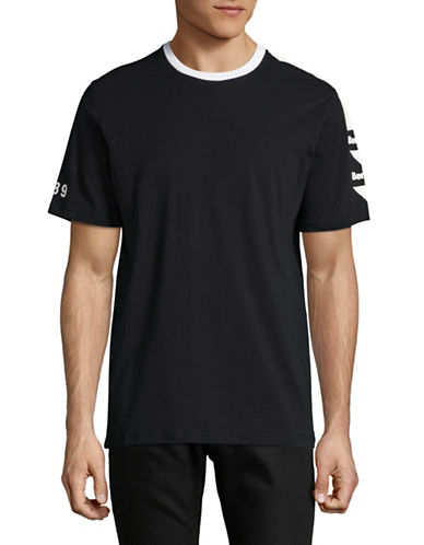 Bench Graphic Sleeve T-Shirt-BLACK-Large