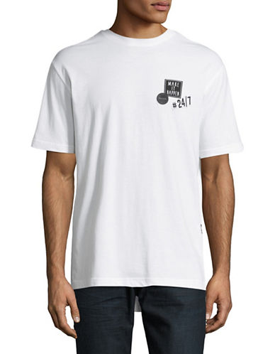 Bench Patch Logo T-Shirt-WHITE-Large