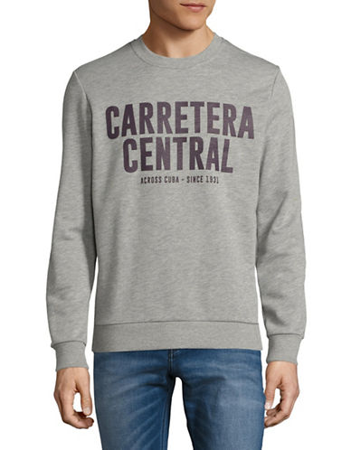 Esprit Regular Fit Slogan Sweatshirt-GREY-Large