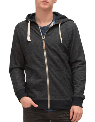 Esprit Kangaroo Cotton Sweatshirt Hoodie-BLUE-Medium