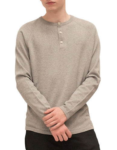 Esprit Crewneck Cotton Sweater-GREY-Small