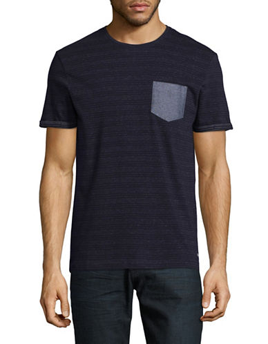 Esprit Contrast Pocket Tee-BLUE-Medium