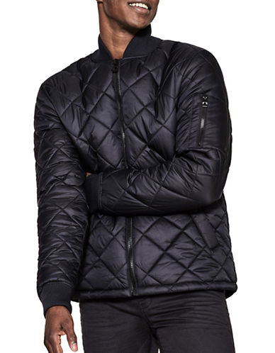 Esprit Transitional Quilted Puffer-BLUE-Medium