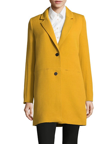 Esprit Vibrant Long Blazer-YELLOW-X-Large