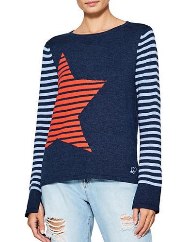 Esprit Star Print Sweater-BLUE-X-Large