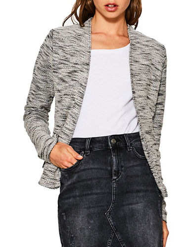 Esprit Open Marl Cardigan-BLACK MULTI-Small