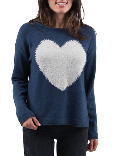 Esprit Heart Sweater-BLUE-X-Large