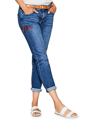 Esprit Embroidered Boyfriend Jeans-BLUE-30