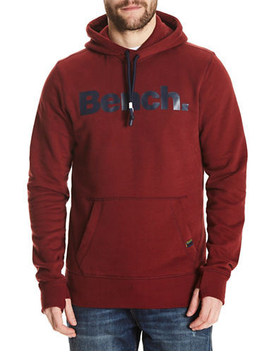 Bench Classic Logo Hoodie-RED-XX-Large