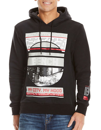 Bench Graphic Print Hoodie-BLACK-X-Large 89492019_BLACK_X-Large