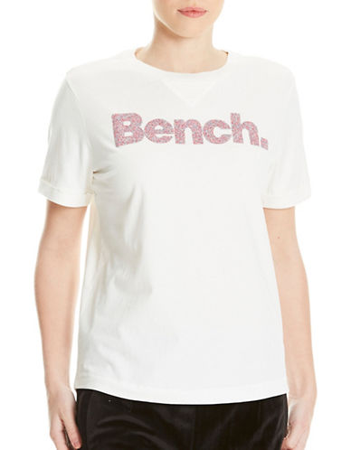 Bench Cotton Logo Print Tee Shirt-WHITE-X-Large