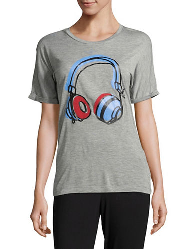 Bench Headphones Graphic T-Shirt-GREY-X-Large 89472404_GREY_X-Large