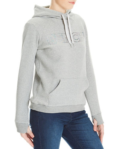 Bench Logo Print Hoodie-GREY-Medium 89472342_GREY_Medium