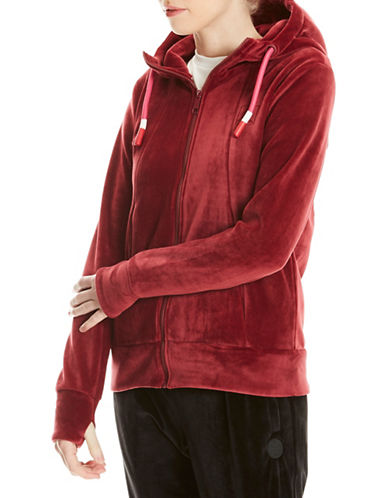 Bench Fleece Hoodie-RED-Large