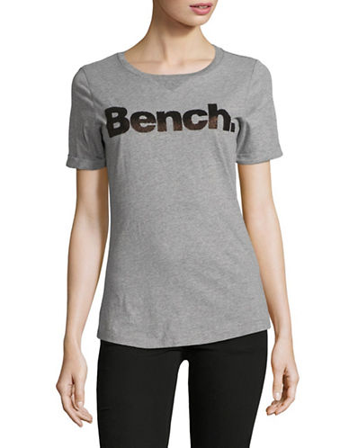 Bench Core Logo Cotton Tee-GREY-Small