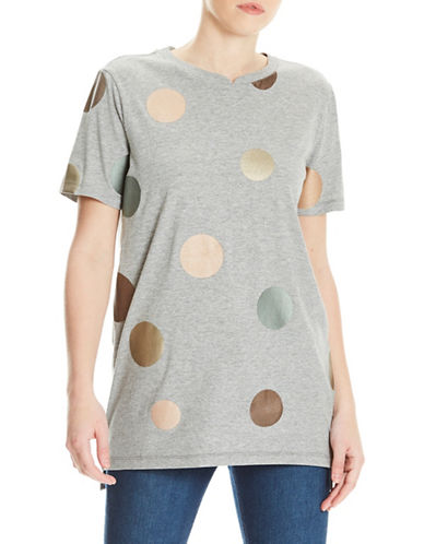 Bench Foil Dot Tee-GREY-X-Small