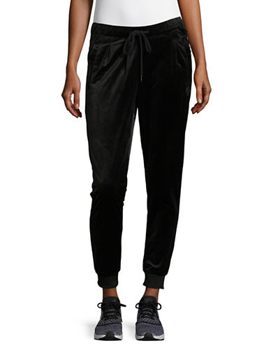 Bench Velvet Woven Jogger Pants-BLACK-Medium