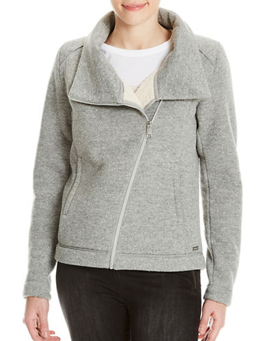 Bench Bonded Teddy Biker Jacket-GREY-X-Large