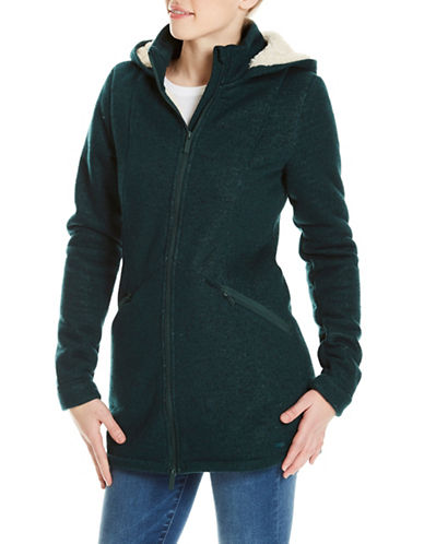 Bench Bonded Long Teddy Jacket-GREEN-Large