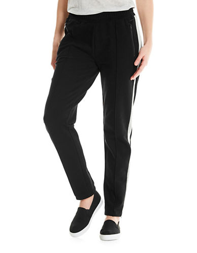 Bench Contrast Panel Sweatpants-BLACK-Large