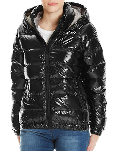 Bench Metallic Puffer Jacket-BLACK-X-Small