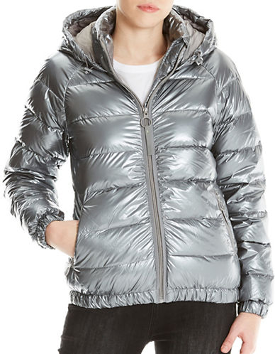 Bench Metallic Puffer Jacket-SILVER-X-Small