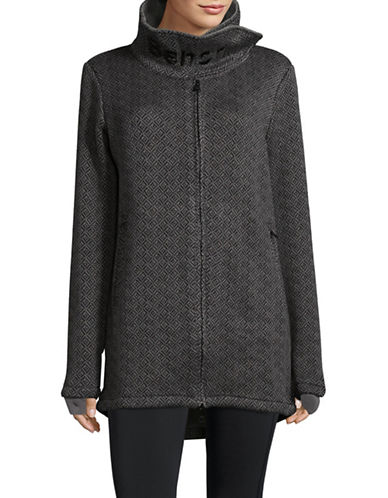 Bench Long Bonded Zip-Up Fleece Jacket-BLACK-Large 89645712_BLACK_Large