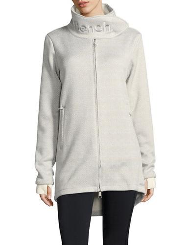 Bench Long Bonded Zip-Up Fleece Jacket-GREY-X-Small 89645714_GREY_X-Small