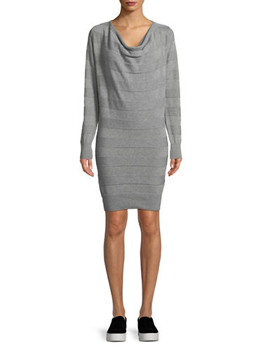Bench Striped Cotton Sweater Dress-GREY-Large