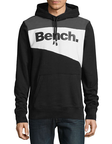 Bench Heritage Colourblocked Hoodie-BLACK-X-Large 89621889_BLACK_X-Large