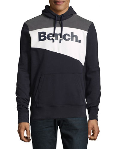Bench Heritage Colourblocked Hoodie-BLUE-X-Large 89621895_BLUE_X-Large