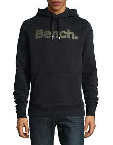 Bench Heritage Camo Logo Hoodie-BLACK-Small