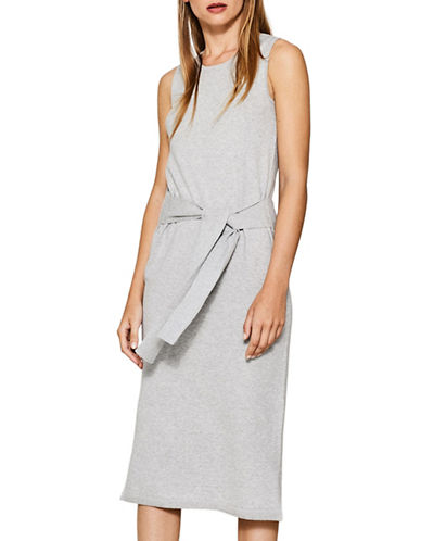 Esprit Self-Tie Cotton Dress-SILVER-Small