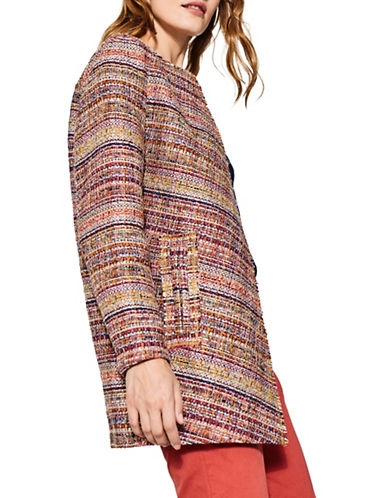 Esprit Bright Tweed Blazer-YELLOWMULTI-Medium