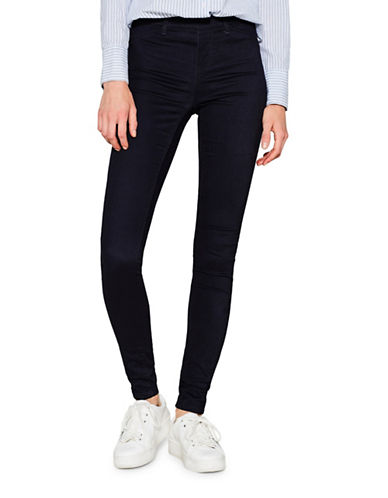 Esprit Mid-Rise Treggings-BLUE-40