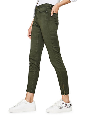 Esprit Cropped Chino Pants-GREEN-42
