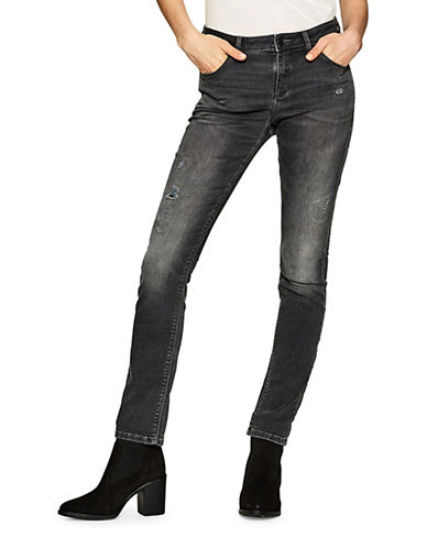 Esprit Distressed Skinny Jeans-GREY-29