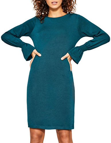Esprit Stretch Jersey Knit Dress-BLUE-Large