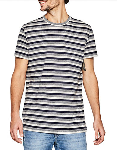 Esprit Striped Short Sleeve Tee-BLUE-Medium