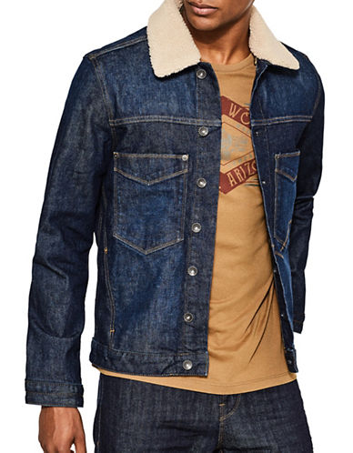 Esprit Indoor Denim Jacket-BLUE-X-Large