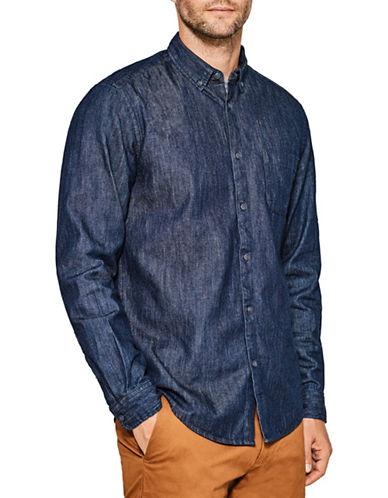 Esprit Woven Cotton Sport Shirt-BLUE-Small